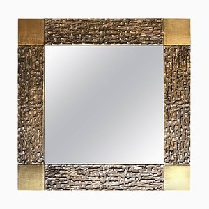 Bronze-Framed Mirror by Luciano Frigerio, 1970s