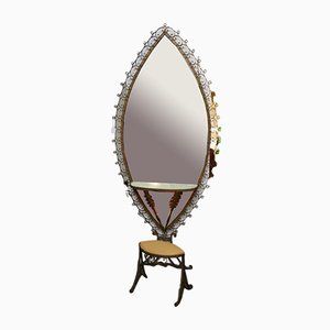 Tocador de hierro forjado con espejo, años 50