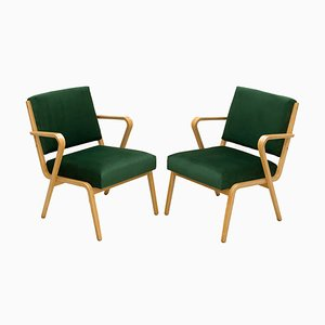 Mid-Century German Armchairs by Selman Selmanagic for Deutsche Werkstätten Hellerau, Set of 2