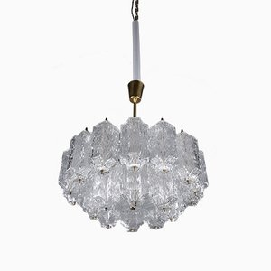 Ice Glass Chandelier by J. T. Kalmar, 1950s