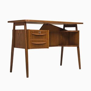 Schreibtisch aus Teak von Gunnar Nielsen Tibergaard, 1960er