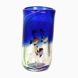 Jarrón de cristal de Murano de AVEM, años 50