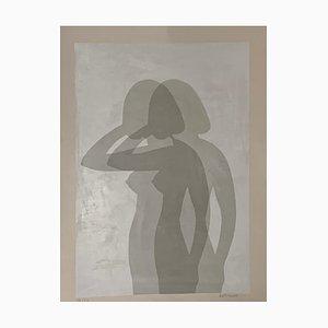 Serigrafia Silhouette di Berto Ravotti, anni '70