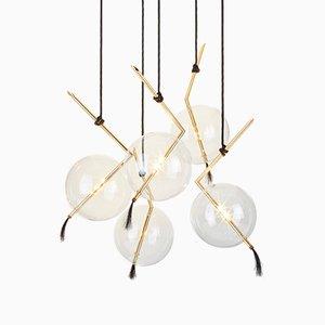 Lampadario a cinque luci Nuvola personalizzabile di Silvio Mondino Studio