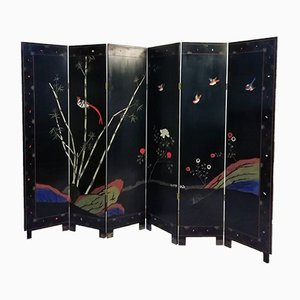 Mid-Century Lacquered Wood Room Divider