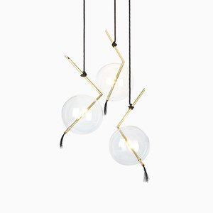 Nuvola 3-light Sculptural Chandelier from Silvio Mondino Studio