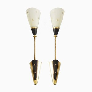 Mid-Century German Sconces, 1950s, Set of 2
