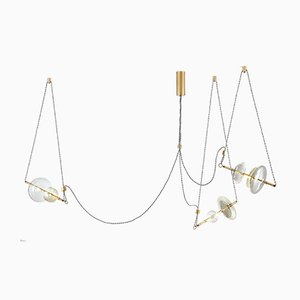 Trapezi Three Lights Contemporary Chandelier