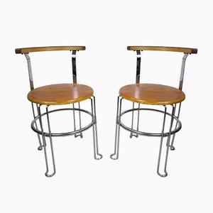 Italienische Esszimmerstühle, 1970er, 2er Set
