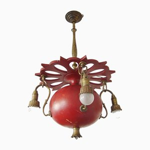 Antique Art Nouveau German Chandelier, 1900s