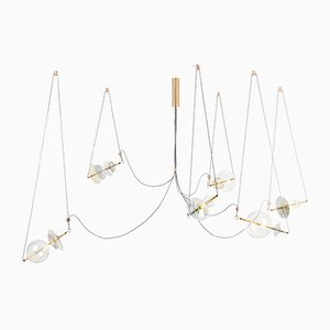 Trapezi Six Lights Contemporary Chandelier