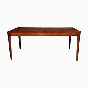 Danish Rosewood Extendable Dining Table by Arne Hovmand-Olsen for Mogens Kold, 1960s