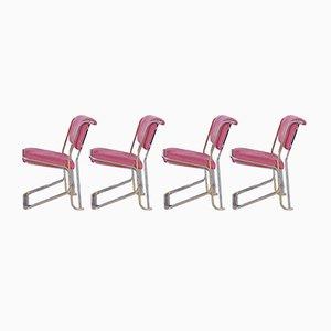 Chaises de Salle à Manger par Willy Rizzo, 1970s, Set de 4
