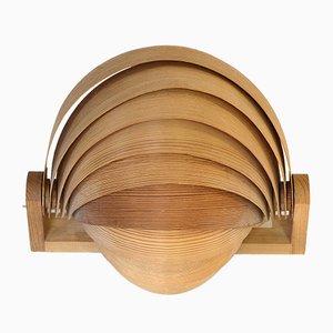 Aplique danés de chapa de pino de Translandia, años 60