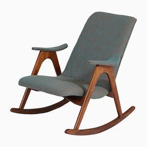 Rocking Chair en Teck par Louis van Teeffelen pour Webe, 1960s