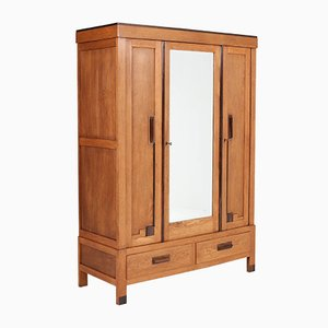 Art Deco Oak Wardrobe, 1920s