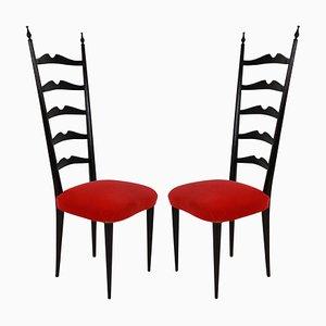 Chaises d'Appoint par Paolo Buffa, 1950s, Set de 2