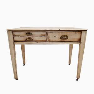 Antique French Pinewood Console Table