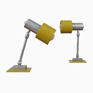 Lampes de Bureau Vintage Jaune Moutarde, 1960s, Set de 2
