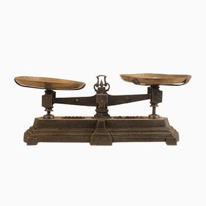 Antique Italian Metal and Brass Scale