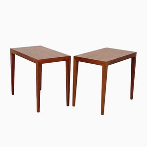 Tables d'Appoint en Palissandre par Severin Hansen pour Haslev Møbelsnedkeri, 1962, Set de 2