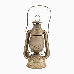 Deutsche Vintage Öllampe aus verchromtem Metall von Frowo