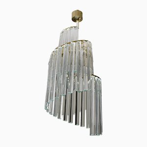 Mid-Century Italian Murano Glass Ceiling Lamp by Pia Guidetti Crippa for Lumi, 1960s