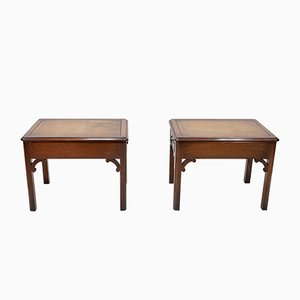 English Mahogany Side Tables, 1964, Set of 2