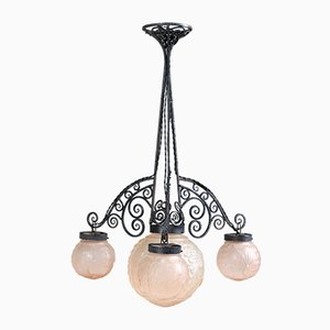 Französische Art Déco Deckenlampe von Muller Frères, 1930er