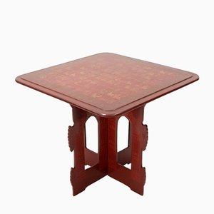 Tavolino birmano laccato, anni '50