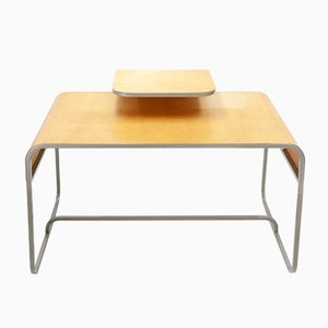 Plywood and Bentwood Desk from Lundia, 1982