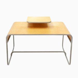 Schreibtisch aus gebogenem Sperrholz von Lundia, 1982