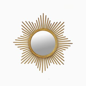 Gild Metal Sunburst Mirror, 1960s