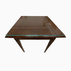 Tavolino da caffè antico in pino