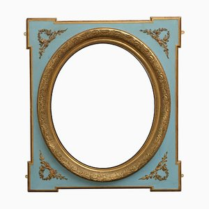 Antique French Painted and Gilded Wall Mirror