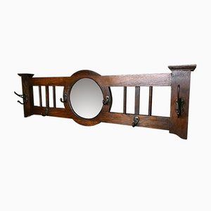 Vintage Edwardian Coat Rack with Mirror, 1930s