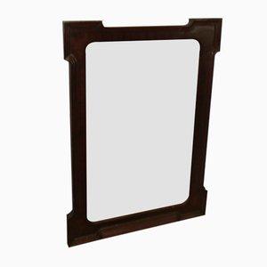 Antiker Spiegel mit Rahmen aus Mahagoni