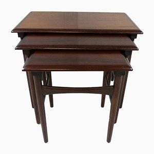 Danish Rosewood Nesting Tables from Dyrlund, 1960s
