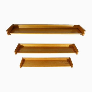Beech Shelves, 1950s, Set of 3