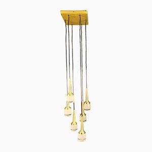 German Golden Cascade Ceiling Lamp from Staff, 1970s