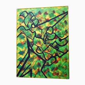 Abstraktes Gemälde von Mano, 1996