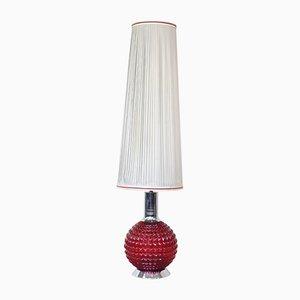 Rote Boudoir Stehlampe, 1970er