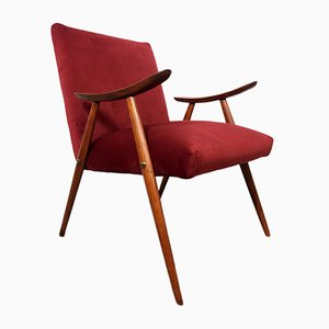 Italian Rosewood Desk Chair by Luigi Vietti, 1950s