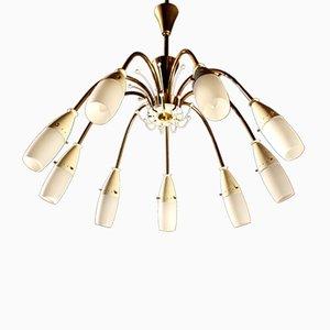Deutsche Spider Deckenlampe, 1950er