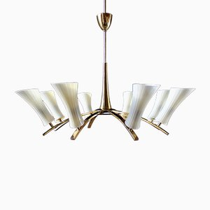 8 Light Ceiling Lamp from Stilnovo, 1950s