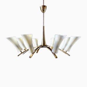 Lampada da soffitto a otto luci di Stilnovo, anni '50