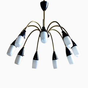 Spider Deckenlampe mit 9 Leuchtstellen, 1950er