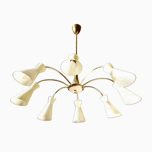 Italian 8 Light Ceiling Lamp from Stilnovo, 1950s