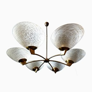 Ceiling Lamp Leaf Pendant Lamp, 1930s