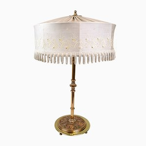 Art Deco Swedish Brass and Copper Table Lamp, 1930s